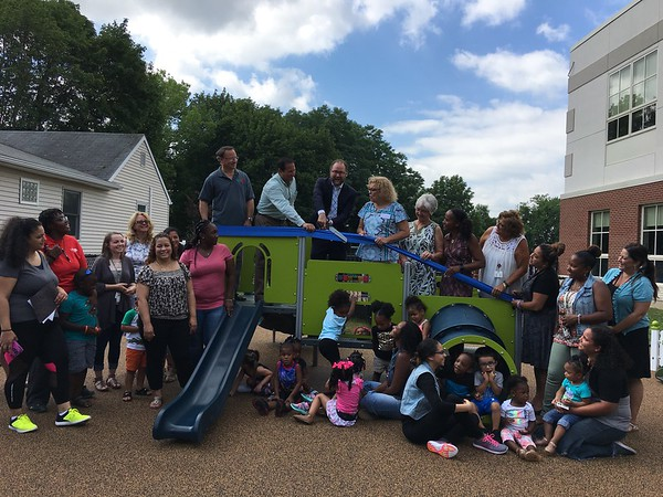In Britains Playgrounds Bringing In >> New Britain Herald New Playground Dedicated At New Britain Hra