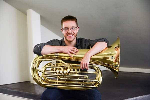 Courtesy of Maryann Burns Alec Rich will be playing the tuba on Thursday at South Church.