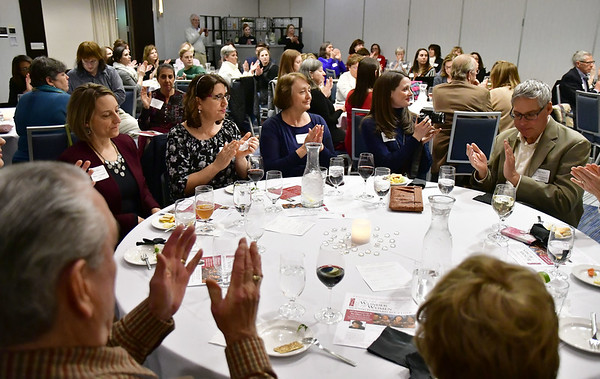 Mike Orazzi | Staff Guests applaud at Thursday night's reception at the DoubleTree by Hilton.