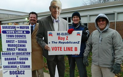 republican-and-democrat-leaders-have-friendly-chat-as-newington-residents-vote-on-election-day