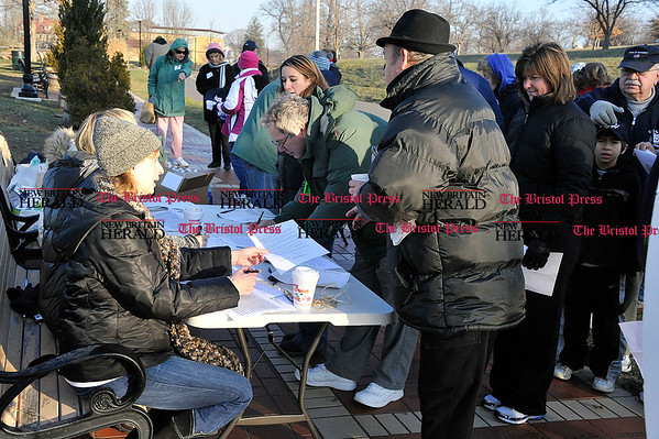Rob Heyl Registration for the &quote;Walk with Doc&quote; was busy with over 100 coming out on a brisk morning to learn about heart health and get healthy. 12.11.10 for 12.12.10