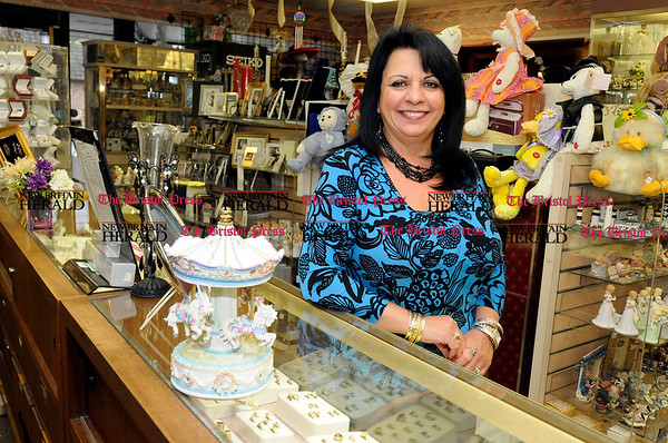 11/4/2010 Mike Orazzi | Staff Jo Peera-Moreno of Elite Gifts & Jewelry in Plainville for &quote;Focus on Plainville&quote;