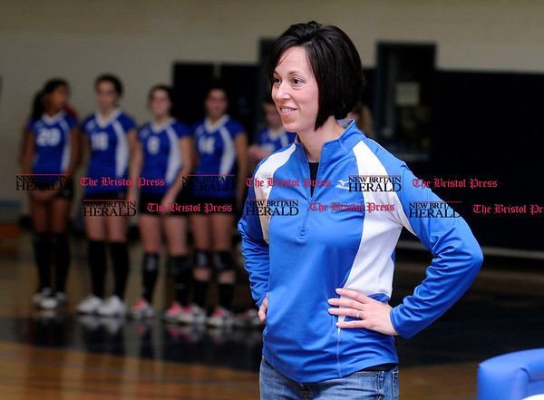 11/4/2010 Mike Orazzi | Staff Bristol Eastern Volleyball coach Stacy Rivoira.