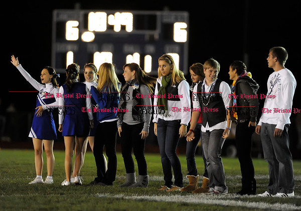 10/8/2010 Mike Orazzi | Staff The homecoming court during Friday night's football game under the lights at Eastern.
