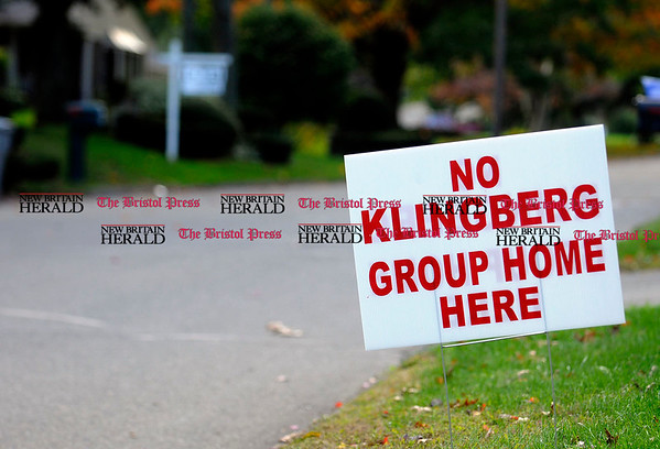 10/7/2010 Mike Orazzi | Staff Signs along Maxine Drive near the proposed Klingberg group home.