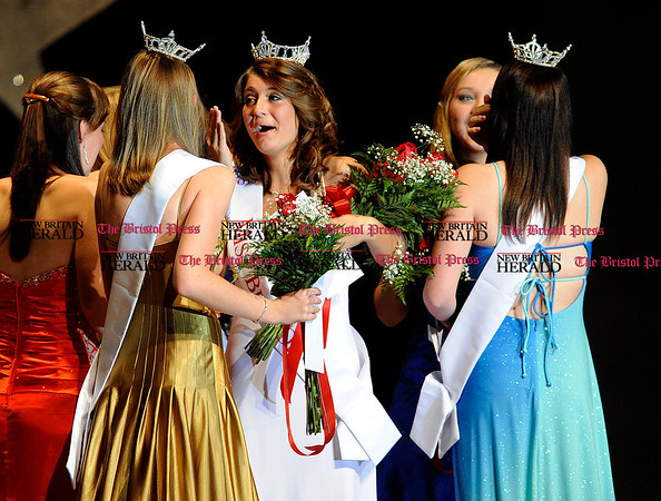 10/2/2010 Mike Orazzi | Staff Marissa DelBuono reacts to being named Miss Bristol 2011.