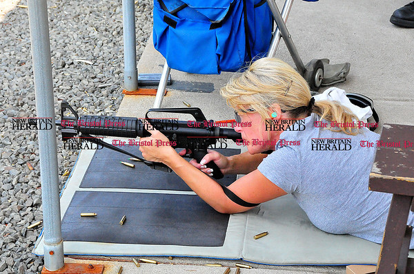 Rob Heyl Southington Detective Karen Apicella starts her prone string. 09.02.10 for 09.03.10