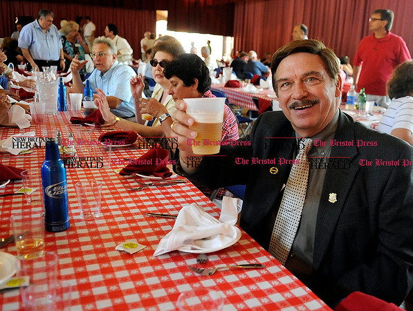 8/31/2010 Mike Orazzi | Staff State Senator Tom Colapietro during the Crocodile Club, the oldest eating club in the country, which was started in 1875 by the Norton family ancestor and former state lawmaker Gad Norton, who founded Lake Compounce.