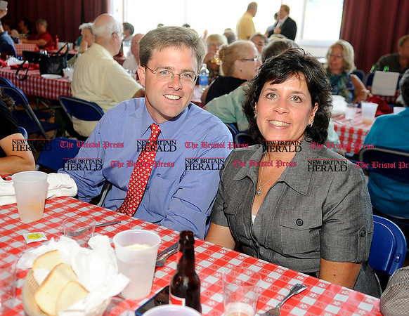 8/31/2010 Mike Orazzi | Staff Jason Welch and Jill Fitzgerald while at the Crocodile Club, at Lake Compounce on Tuesday.