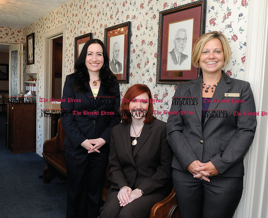 9/3/2009 Mike Orazzi | Staff Bailey Funeral Home's Michele Wegner, Melissa Matthews and Andrea Wasley.
