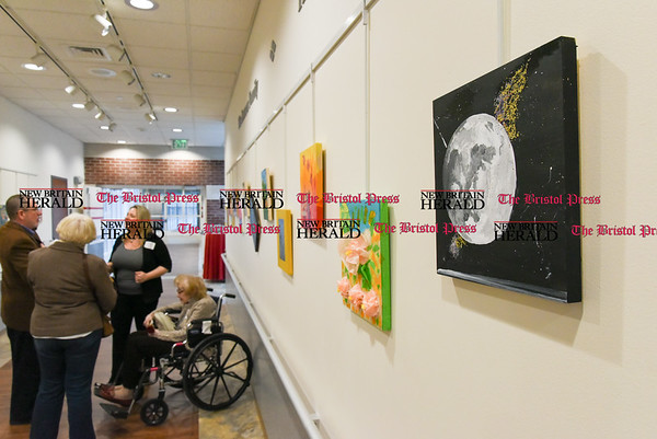 040717 Wesley Bunnell | Staff An Art of Honor Exhibition was held at The Hospital for Special Care on Friday evening. The exhibition featured art work by veterans and their families.