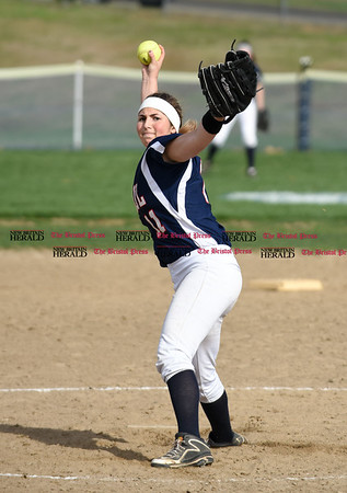 041717 Wesley Bunnell | Staff St. Paul softball was defeated by Seymour on Monday afternoon. Alessandra Milardo (11).