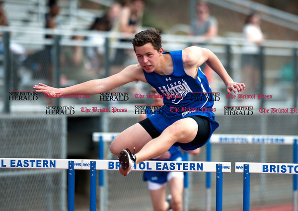4/11/2017 Mike Orazzi   Staff Bristol Eastern's Donovan Soucy during Tuesday's track meet.