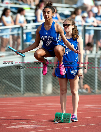 4/11/2017 Mike Orazzi | Staff Bristol Eastern runner Vanessa Floyd Tuesday at Eastern.