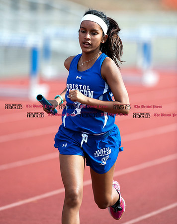 4/11/2017 Mike Orazzi | Staff Bristol Eastern's PTejal Monteiro during Tuesday meet at Bristol Eastern.