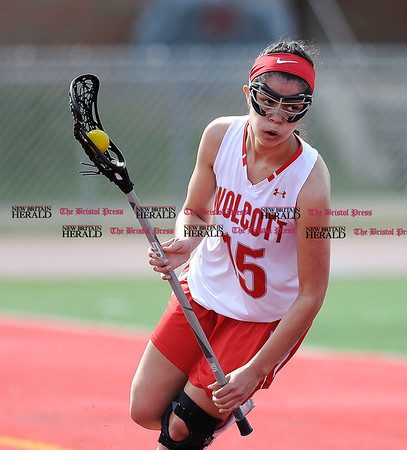 4/12/2017 Mike Orazzi | Staff Wolcott High School's Cianna Navarro (15) in Wolcott Wednesday.