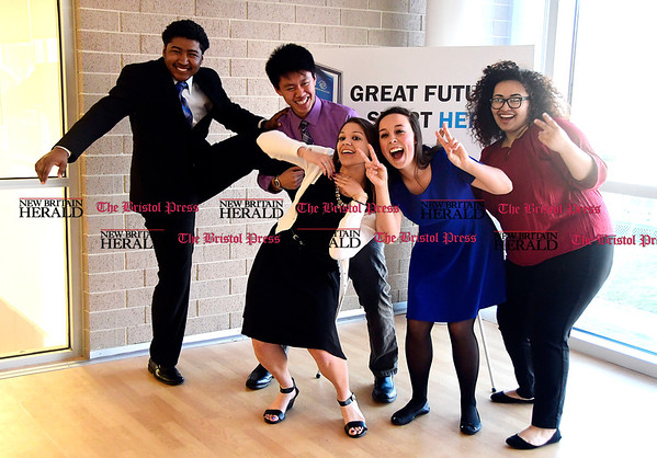 4/12/2017 Mike Orazzi | Staff Youth of the Year Candidates, left to right: Marlon Paltoo, Johnny Chea, Siena Stickney, Jillian Maghini and Daneirys Rivera.