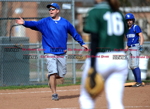 4/13/2017 Mike Orazzi | Staff Bristol Eastern's Scott Redman during Thursday's softball with Northwest Catholic in Bristol.