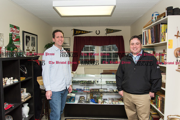 040617 Wesley Bunnell | Staff KC's Gold in Newington is a vintage resale shop owned by Fred Carter, left, and Robert Kusiak.