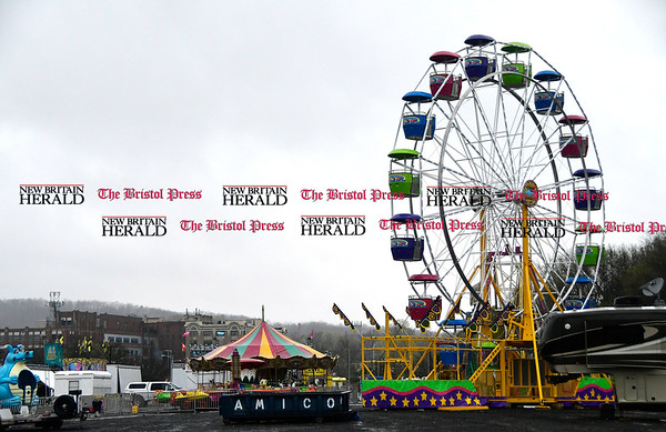4/25/2016 Mike Orazzi   Staff Rides are being set up for the United Way carnival in downtown Bristol.