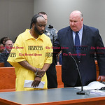 042617  Wesley Bunnell   Staff  Patrick Miles stands with Attorney Robert Pickering as he prepares to leave New Britain Superior Court on Wednesday afternoon for the April 7 murder of his wi ...