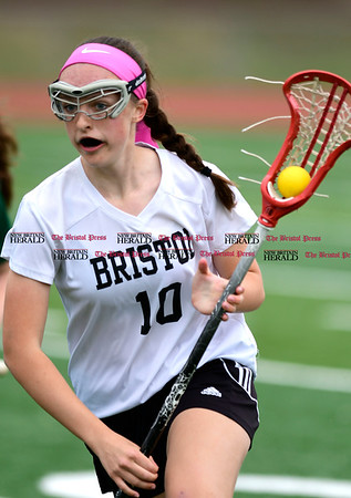 4/26/2017 Mike Orazzi | Staff Bristol lacrosse's Emily Stadnicki (10) during Wednesday's game with Northwest Catholic at Bristol Eastern.