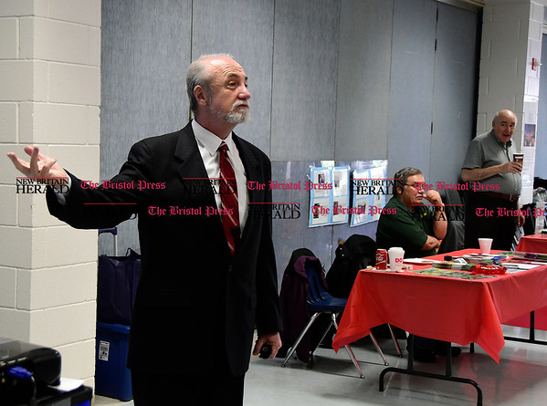4/7/2017 Mike Orazzi | Staff Nirenstein Horowitz & Associates' Barry Horowitz during The Bristol Press & New Britain Herald and Connecticut Prime Time's 3rd Annual Senior Fair held at Bristol Eastern High School Saturday.