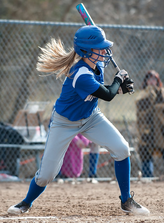 04/09/18 Wesley Bunnell | Staff Southington softball defeated Bristol Eastern 6-1 at Southington High School on Monday afternoon.