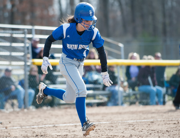04/09/18 Wesley Bunnell | Staff Southington softball defeated Bristol Eastern 6-1 at Southington High School on Monday afternoon. Taylor Keegan (6)