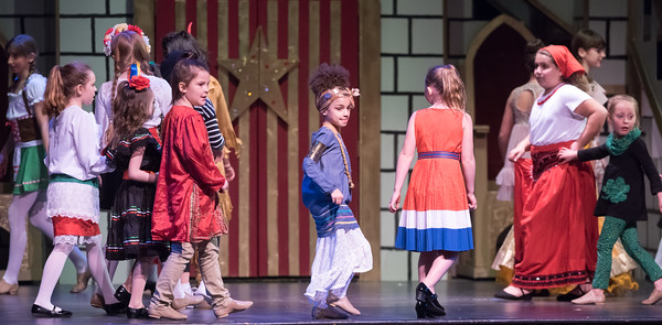 04/21/18 Wesley Bunnell | Staff The Older Members Association of the Boys and Girls Club of Bristol Family Center held their 77th annual OM Show on Saturday April 21 at St. Paul Catholic High School. The show was Disney themed and titled Wish Upon a Star. The Children & Youth Ensemble perform Small World Medley from Pinnochio, Song of the South.