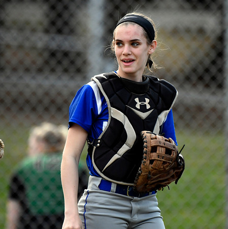4/13/2018 Mike Orazzi | Staff Bristol Eastern during Friday's softball with Enfield in Bristol.