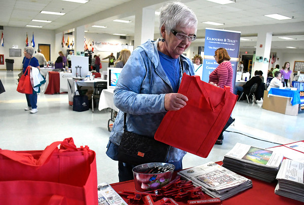 4/14/2018 Mike Orazzi | Staff Mary Dudzinski during the 4th annual Prime Time Senior Fair held at Bristol Eastern High School Saturday.