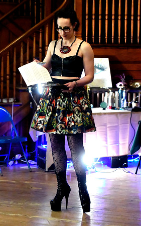 4/14/2018 Mike Orazzi | Staff Master of Ceremonies Sarah Mitchell during CT Swan Day 2018 held at Trinity on Main in New Britain Saturday night.