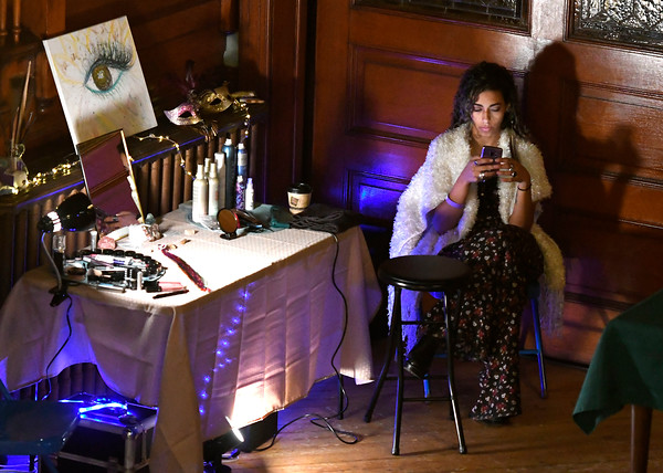 4/14/2018 Mike Orazzi | Staff Artist Amanda Castillo during CT Swan Day 2018 held at Trinity on Main in New Britain Saturday night.