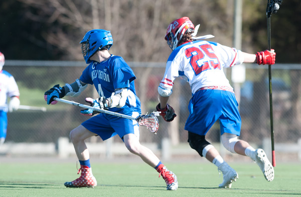 04/20/18 Wesley Bunnell   Staff Berlin boys lax defeated Bristol Eastern 18-3 on Friday afternoon at Sage Park. Zach Hill (4) and Jack Lombardo (25).