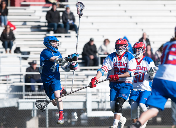 04/20/18 Wesley Bunnell   Staff Berlin boys lax defeated Bristol Eastern 18-3 on Friday afternoon at Sage Park. Zach Hill (4) and Jack Lombardo (25) and Nick Grant (30).