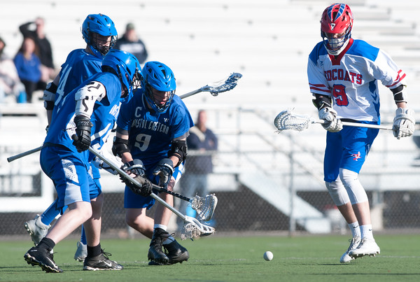 04/20/18 Wesley Bunnell   Staff Berlin boys lax defeated Bristol Eastern 18-3 on Friday afternoon at Sage Park. Alex Durand (9) and Kevin Dunn (9).