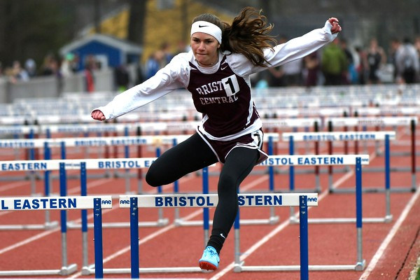 4/27/2018 Mike Orazzi | Staff Bristol Central's Ashleigh Clark during the Bristol Eastern High School track invitational held on Friday.