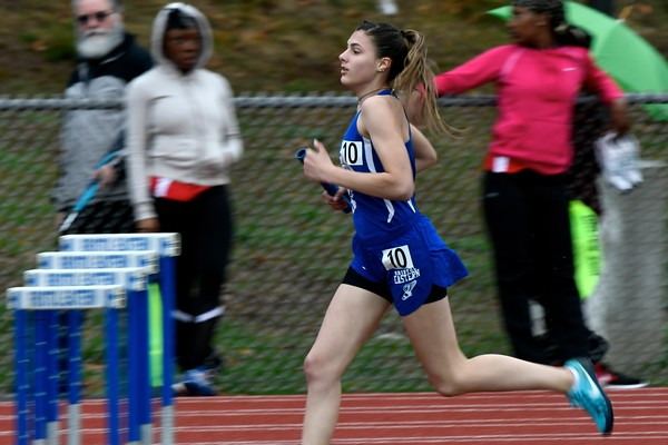 4/27/2018 Mike Orazzi | Staff Bristol Eastern High School's Avery Braccia during the track invitational held on Friday at Eastern.