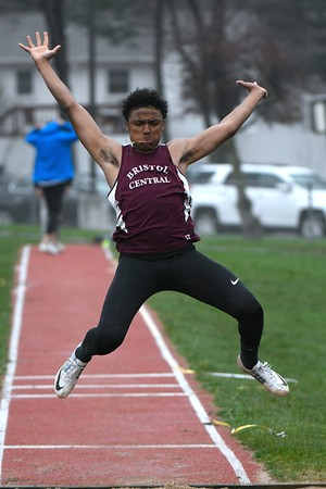 4/27/2018 Mike Orazzi | Staff Bristol Central's Galen Hickey during the Bristol Eastern High School track invitational held on Friday.