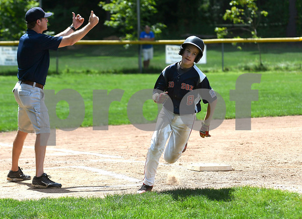8/19/2017 Mike Orazzi | Staff McCabe-Waters Red Sox's Chase Gibson (8) Saturday during the City Series.
