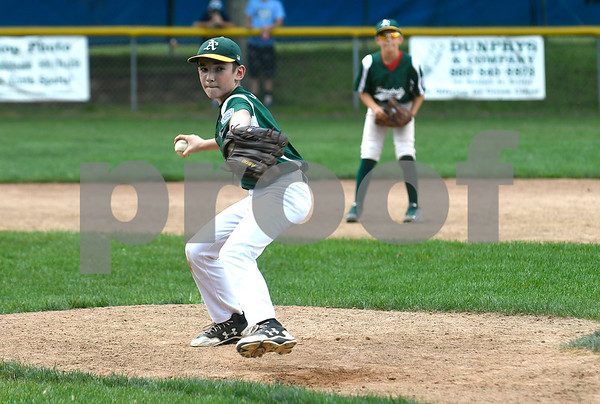 8/19/2017 Mike Orazzi | Staff Forestville's Caleb Molinsky (8) Saturday during the City Series.