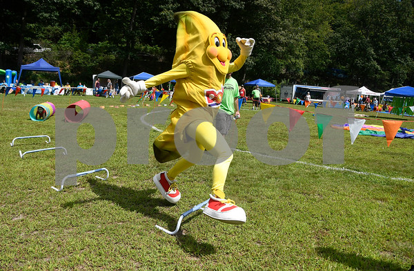 8/19/2017 Mike Orazzi | Staff A giant banana from the Imagine Nation Museum kid's zone during the Rockwell Park Summer Festival 2017 hosted by West End Association of Bristol Saturday.