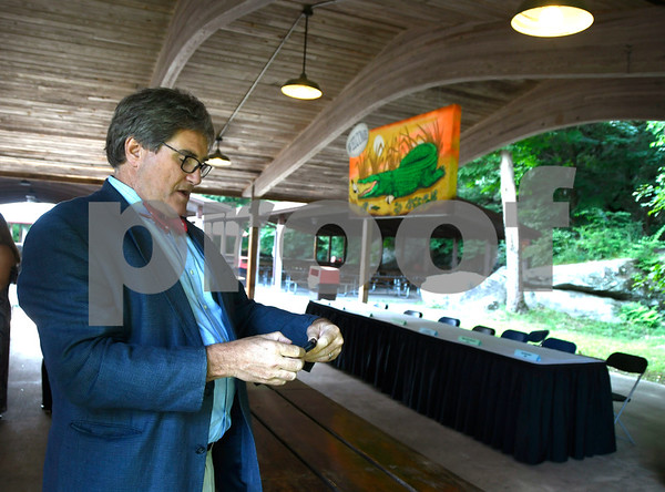 8/24/2017 Mike Orazzi | Staff Christopher Healy during the annual Crocodile Club Dinner meeting presented by the New England Carousel Museum at Lake Compounce Thursday afternoon.