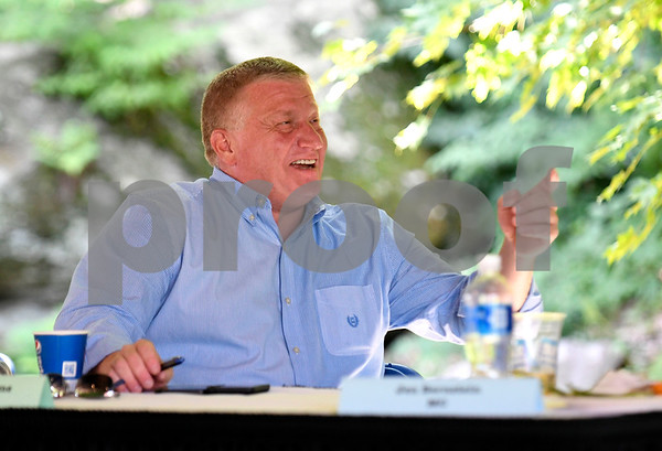 8/24/2017 Mike Orazzi | Staff Bristol Mayor Ken Cockayne during the annual Crocodile Club Dinner meeting presented by the New England Carousel Museum at Lake Compounce Thursday afternoon.