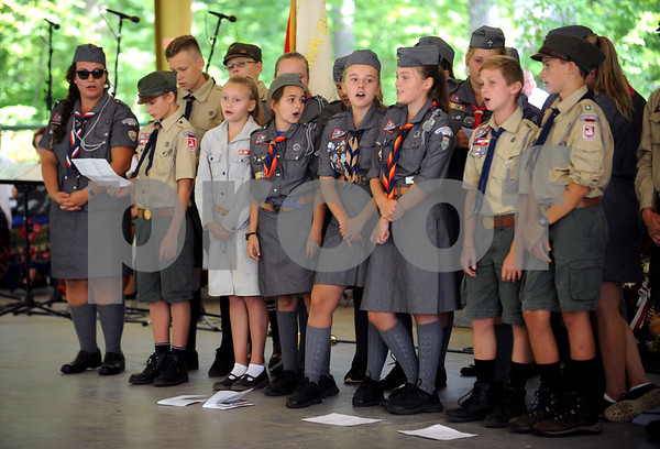 8/26/2017 Mike Orazzi | Staff Members of the Polish Language School Scouts during the Annual Dozynki Festival at Falcon Field in New Britain on Saturday.