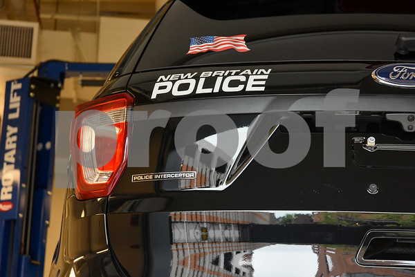 080717 Wesley Bunnell | Staff A New Britain Police Ford Explorer with the special Interceptor package is shown. There have been recent complaints from other police departments of carbon monoxide leaks into the cabin but no reports in New Britain.