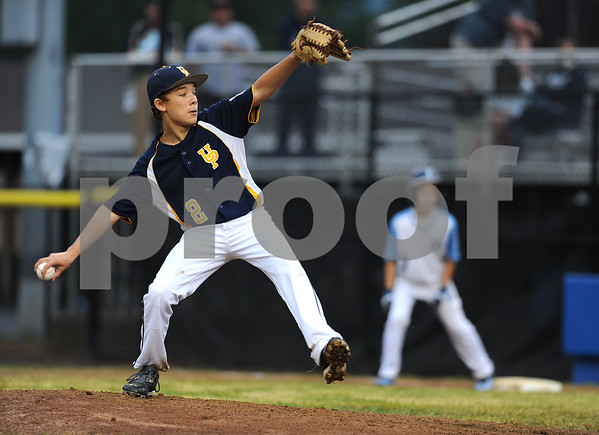 8/7/2017 Mike Orazzi | Staff Pennsylvania's Ryan Garvey (2) during the Eastern Regional Little League Tournament in Bristol Monday evening.