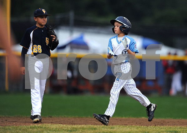 8/7/2017 Mike Orazzi | Staff Maryland's Peyton Castellow (77) during the Eastern Regional Little League Tournament in Bristol Monday evening.
