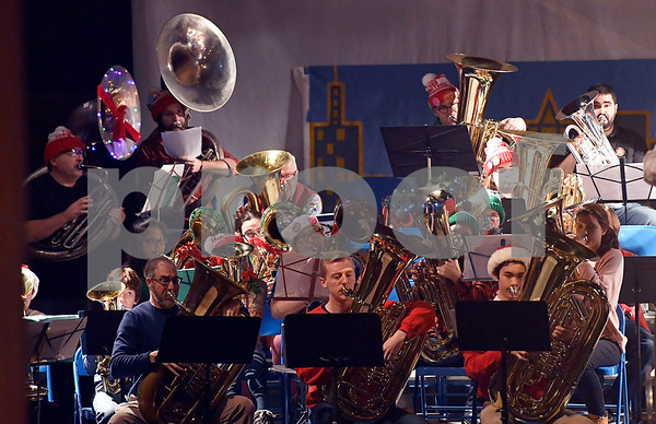 12/16/2017 Mike Orazzi | Staff The 3rd Annual Tuba Christmas at Trinity-On-Main in downtown New Britain Saturday.